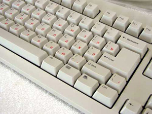 Russian Keyboard Stickers on a standard US Keyboard